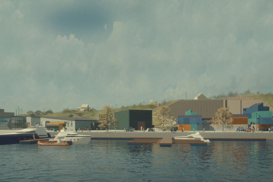 På grunn av stor etterspørsel er vi nå i gang med å utvide vårt næringsområde på Frøya.
